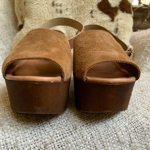 Seychelles Shoes - Seychelles brown suede wedge sandals with open toe